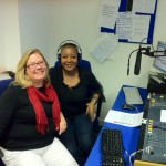 Julie Hall and Viv at the maiden Dream Corner show